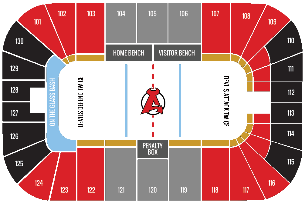 Seating chart albany devils
