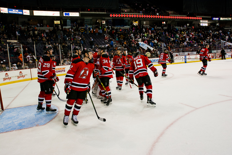 The Devils won for the second straight game, shutting out the Wolf Pack, 3-0.