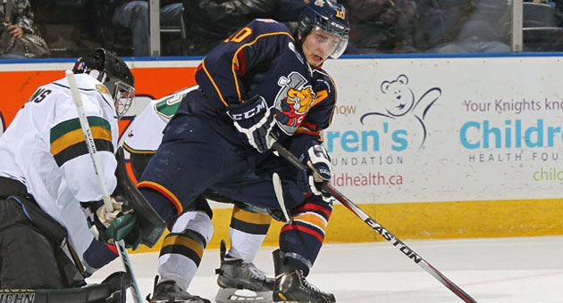 Joseph Blandisi posted 112 points in 68 games with Barrie (OHL) this season.